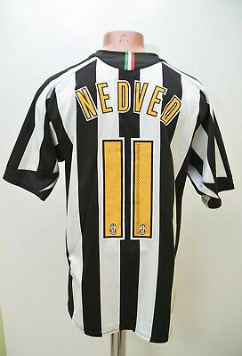 Juventus Italy 2005/2006 Home Football Shirt Jersey Nike #11 Nedved M Adult