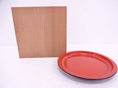 90852# Japanese Tea Ceremony / Vermillion Lacquer Sweets Tray