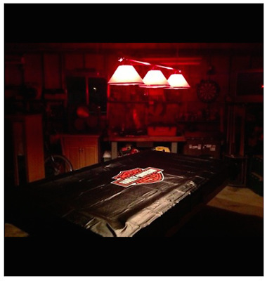 Harley Davidson Pool Table Cover Thick Vinyl for 7-8ft Tables BN A