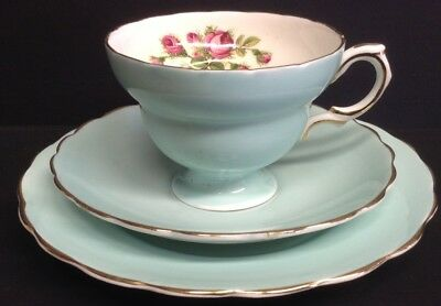 Rosina China Duck Blue Floral Trio