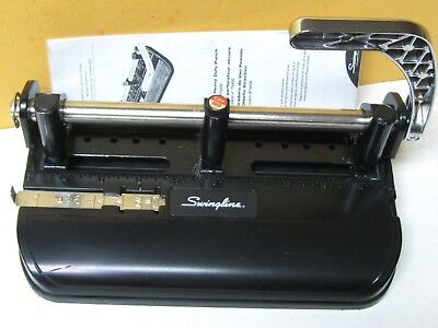 "Swingline 350/400 Heavy Duty 2 Or 3 Hole Adjustable Punch  11/32"" Clean Ready"