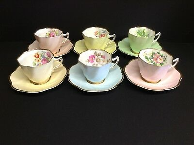 Clare China 6 x Harlequin Floral Duos