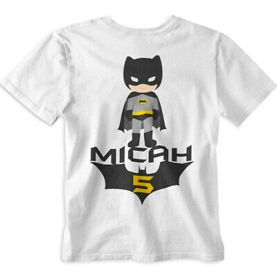 Batman Birthday Shirt Personalized Custom Name And Age Inspired