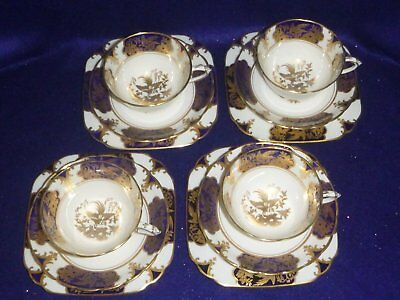 Vintage Tuscan Tea Cup Trio - Set of Four