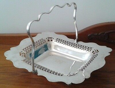 Silver EPNS tray bowl dish handled footed Dunklings Melbourne Made in England