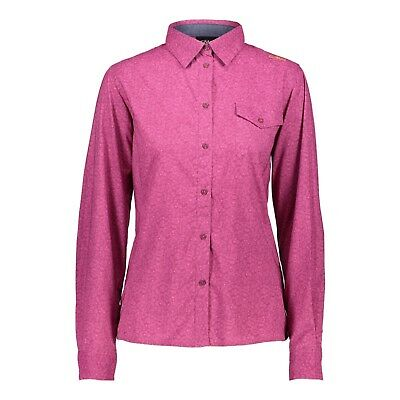 CMP Outdoorbluse 38T5876 Women Shirt Wanderbluse Funktionsbluse langarm fuchsia