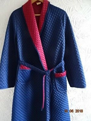 MENS VINTAGE Tootal Red/blue Paisley Dressing Gown 70S Xl Smoking ...