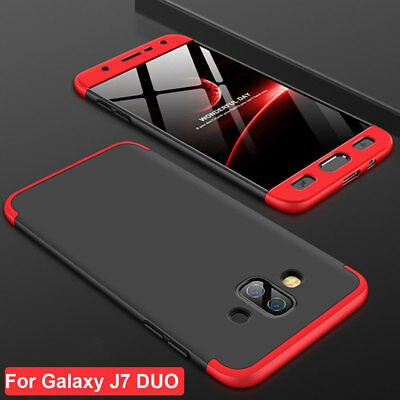 360 Shockproof Full Cover Thin Armor Case for Samsung Galaxy J7 DUO Acrylic Skin