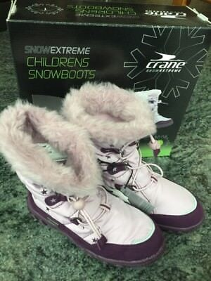 CRANE Girls Snow Thermal boots Size 1 NWT