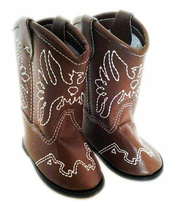 6ffd062763052 Brown Western Cowgirl Doll Shoes Boots Fits 18 Inch American Girl Doll  Clothes