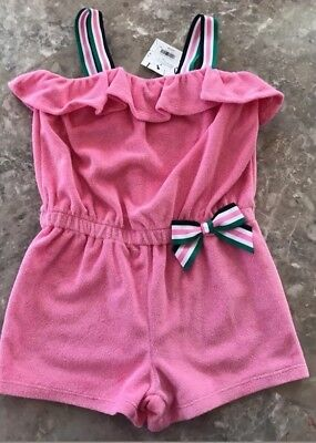 NWT Janie And Jack Girls Pink Romper Shorts Size 6