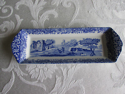 Spode Blue Italian Mint Tray Dish 23 X 8Cm  Made In England