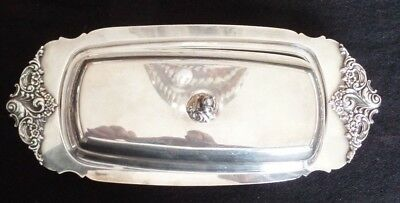 Wallace Silver Grand Baroque Three Piece Butter Dish