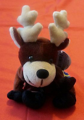Coca Cola International Collection Bean Bag Plush Reindeer Baltic Sweden