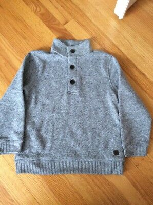 Janie And Jack Boy Gray Pullover Sweater, Size 6