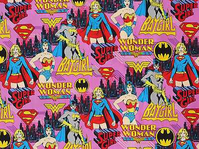 "Batgirl Fabric Wonder Woman Supergirl Power Female Superhero Camelot 21"" Remnant"