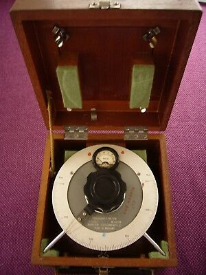 Vintage Marconi TF 1026/1 Frequency Meter in original wooden box.