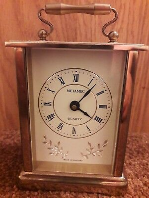 Vintage Metamec Quartz Mantle / Carriage Clock
