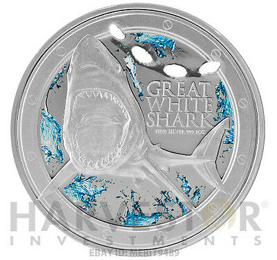 2012 Silver Great White Shark – With Bite Mark – Amazing Liquid Packaging