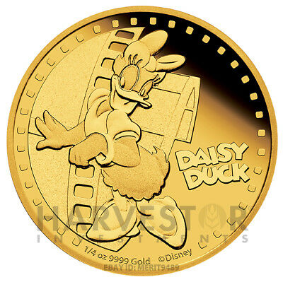 Disney - Daisy Duck - Mickey And Friends - 1/4 Oz. Gold Proof - With Ogp & Coa