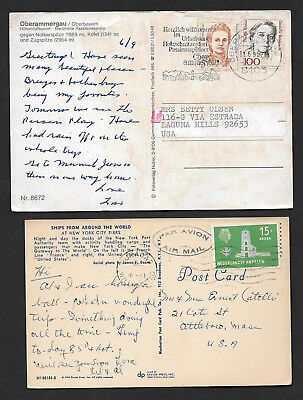 (111cents) Five Different Countries Postcard