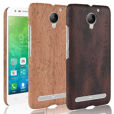outlet store 07fd5 054f7 FOR LENOVO VIBE C2 C2power Wood Texture PU Coated hard case cover