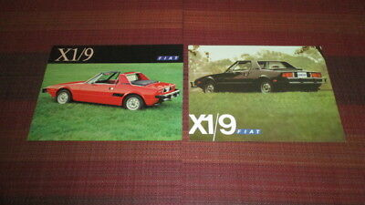 2 Different Fiat X1/9 2 Sided Brochure Sheets From 1976 & 1977.