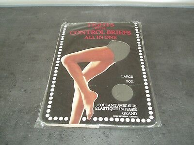 Sissy Vintage Tights with Control Brief St Michael M&S Fox Grey