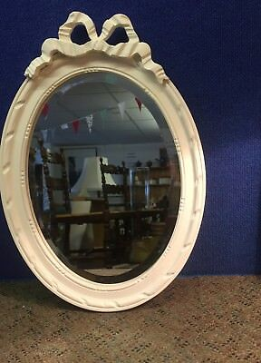 Pretty 1930s Oval mirror with bow decoration