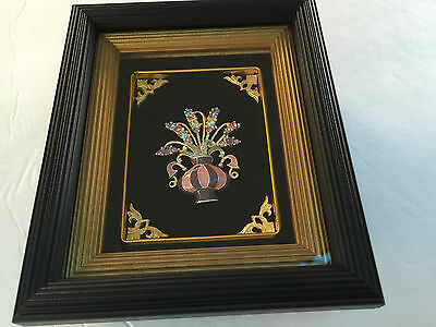 Beautiful Handmade Decorative Thai Wall Hanging / Desk Vase Frame