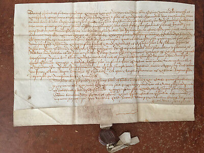 17th Century Vellum Document in Latin with Wax Seal