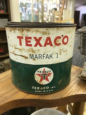 Vintage Texaco Marfak No. 1 Grease Can not empty 5 pound can Antique