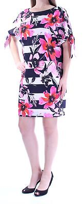 ad2af2e0b17 VINCE CAMUTO  148 Womens New 1022 Pink Floral Short Sleeve Shift Dress 10  B+B