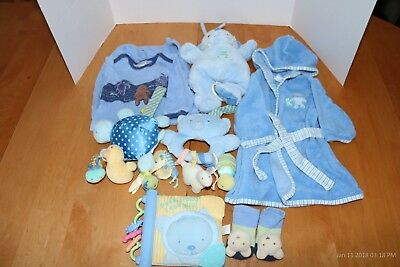 Baby by Carters/Carters Baby Boy coordinating bath robe, sleep sack, and toys