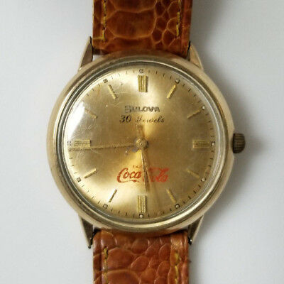 Vintage Coca Cola Bulova Watch Engraved for Executive George Hatch 30 Jewels M5