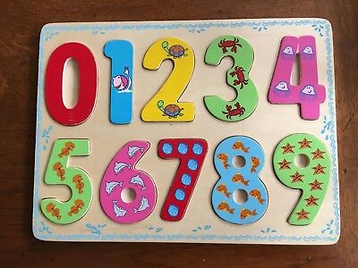 Wooden Number Playtray
