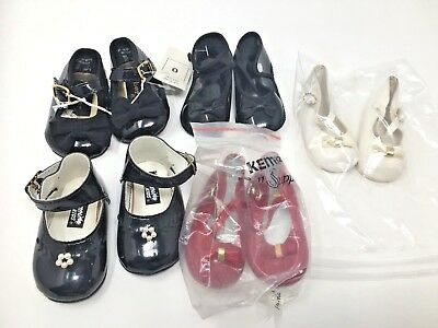 Vintage LOT OF 5 PAIRS Baby Doll Shoes Kemper Gerber White Black Red
