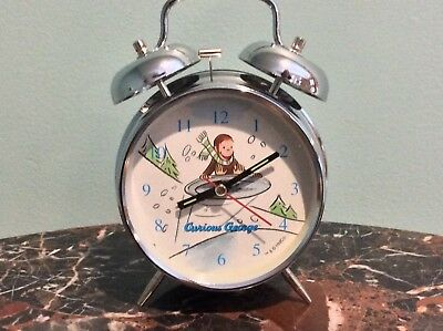 Curious George Twin Bell Alarm Clock