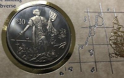 BRITISH VIRGIN ISLANDS 10$ PROOF COIN 1992 YEAR - Columbus 500 Year Anniversary