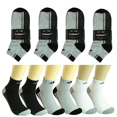 Adi 12 Pairs Mens Women Ankle Socks Cotton Low Cut Casual Size 9-11 10-13