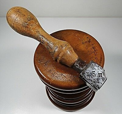 """Antique Shoemaker's Leather Worker's Tool Marked """"CN HELIO """""""