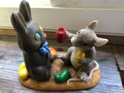 Sylvestri Figurine Charming Tails Mouse Jelly Beans Chocolate Bunny ~ Easter
