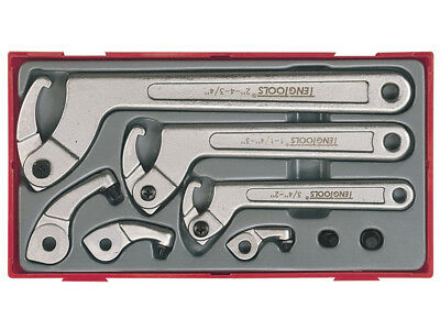 Teng Tools TTHP08 8 Piece Hook & Pin Wrench Set