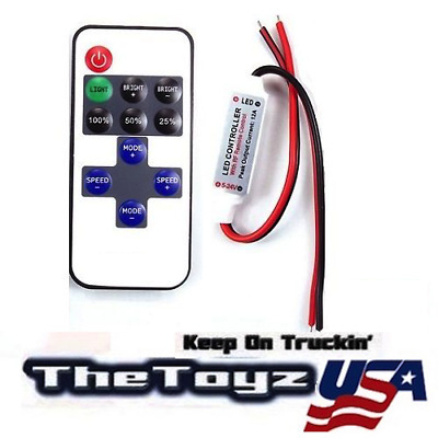 Remote Controller Turns Your Custom RC LED Lights On/Off USA