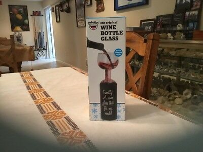 Bigmouth The Original Wine Bottle Glass 750ml New in Box Sealed