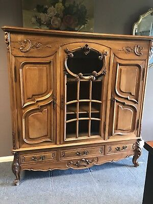 Louis XV Style French Cabinet / Bookcase