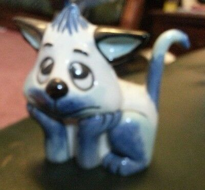 Lorna Bailey small blue cat Excellent Condition FREE P&P