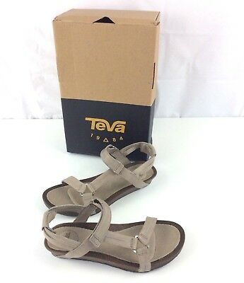 9b10732c2f39 New Womens TEVA W Ysidro Universal Sandals Size 6M 7M Taupe Leather Shoes