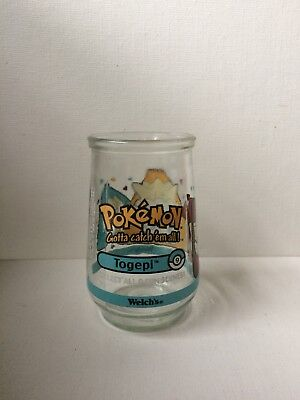 Vintage Togepi #09 Pokemon Welch's jelly jar 1999 child's glass collectible