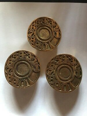 GTE Telephone Rotary Dial Belt Buckle Lot Of 3